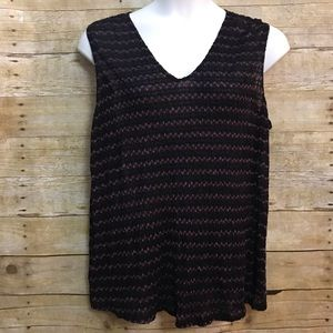Lane Bryant 22/24 Sleeveless Top Black Pink